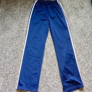 Adidas Men's Athletic Pants Size Small Blue Stripe